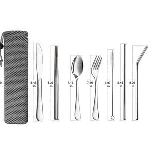 Reusable Silverware  Camping Cutlery Set
