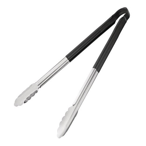 Black Steak Tongs 405mm