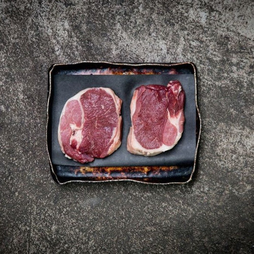 2 Native Breed Lamb Leg Steaks