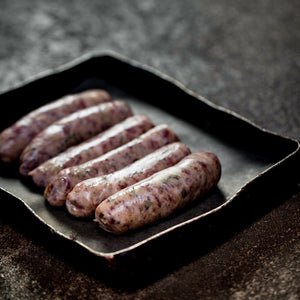6 x Rare Breed Pork & Mustard Sausages
