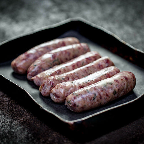 6 x Rare Breed Pork & Apple Sausages