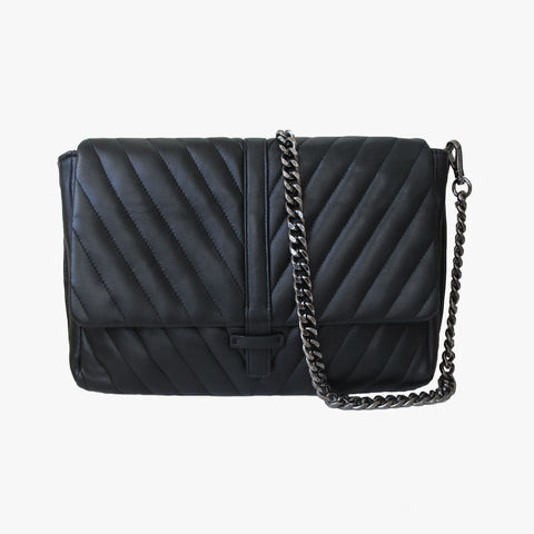 ALEX - BLACK QUILTED