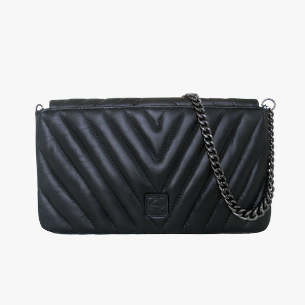EMILY - BLACK QUILTED