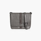 MADISON ADJUSTABLE STRAP - GREY CALF