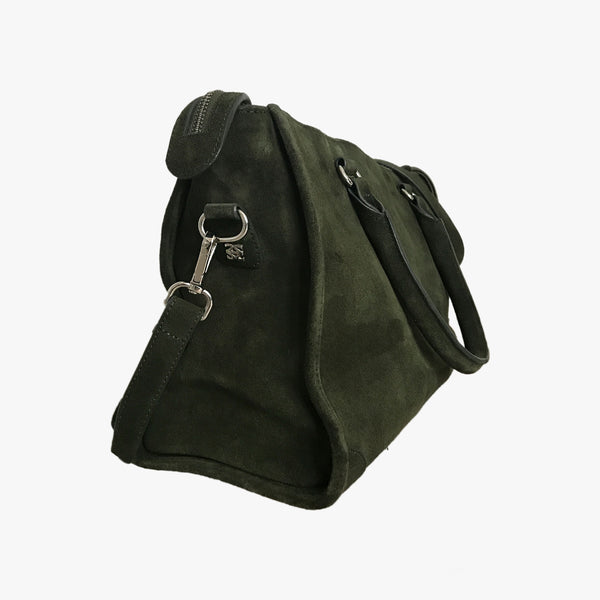 NAOMI - DARK GREEN SUEDE