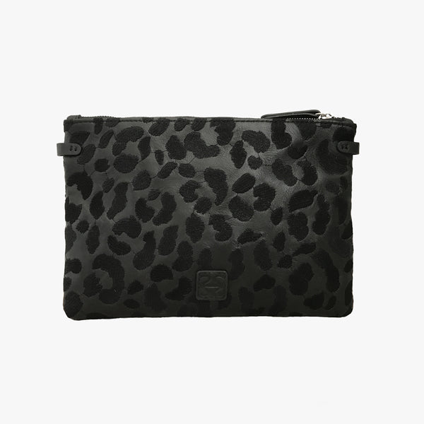 STELLA - EMBROIDERED BLACK LEOPARD
