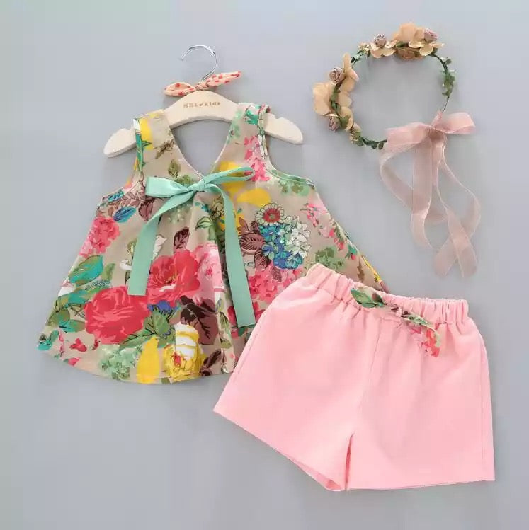 Rosy Posy Summer Short Set