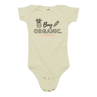 """Buy Organic"" - Organic Cotton Infant Onesie"