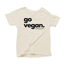 "Load image into Gallery viewer, ""go vegan"" - Organic Cotton Toddler Tee"