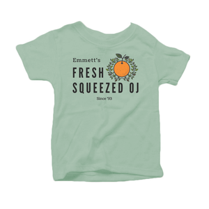 """Emmett's OJ"" - Organic Cotton Toddler Tee"