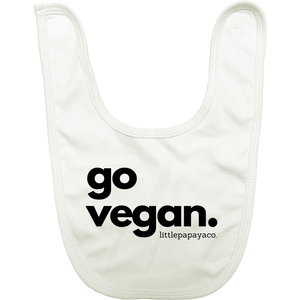 """go vegan"" - Organic Cotton Bib"