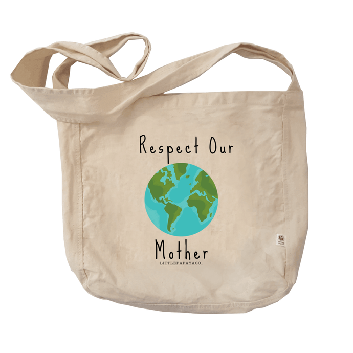 """Respect Our Mother"" - Reusable Farmer's Market Tote"
