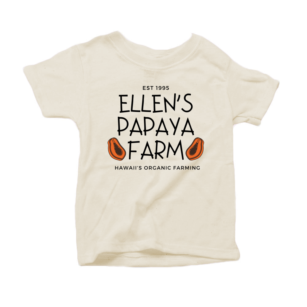 """Ellen's Papaya Farm"" - Organic Cotton Toddler Tee"