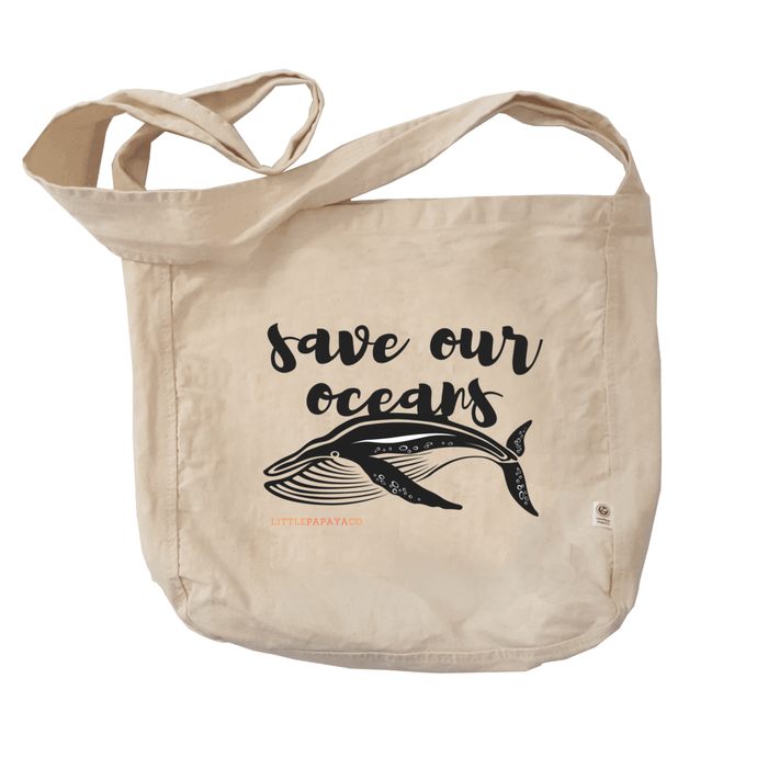 """Save Our Oceans"" - Reusable Farmer's Market Tote"