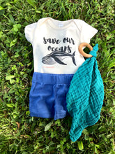"Load image into Gallery viewer, ""Save Our Oceans"" - Organic Cotton Infant Onesie"