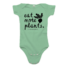 "Load image into Gallery viewer, ""Eat More Plants""- Organic Cotton Infant Onesie"