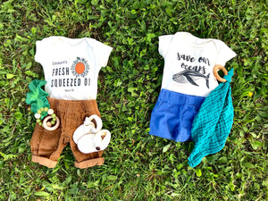 """Save Our Oceans"" - Organic Cotton Infant Onesie"
