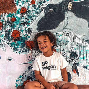 """go vegan"" - Organic Cotton Toddler Tee"