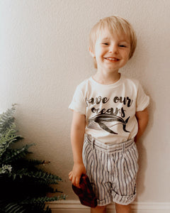 """Save Our Oceans"" - Organic Cotton Toddler Tee"