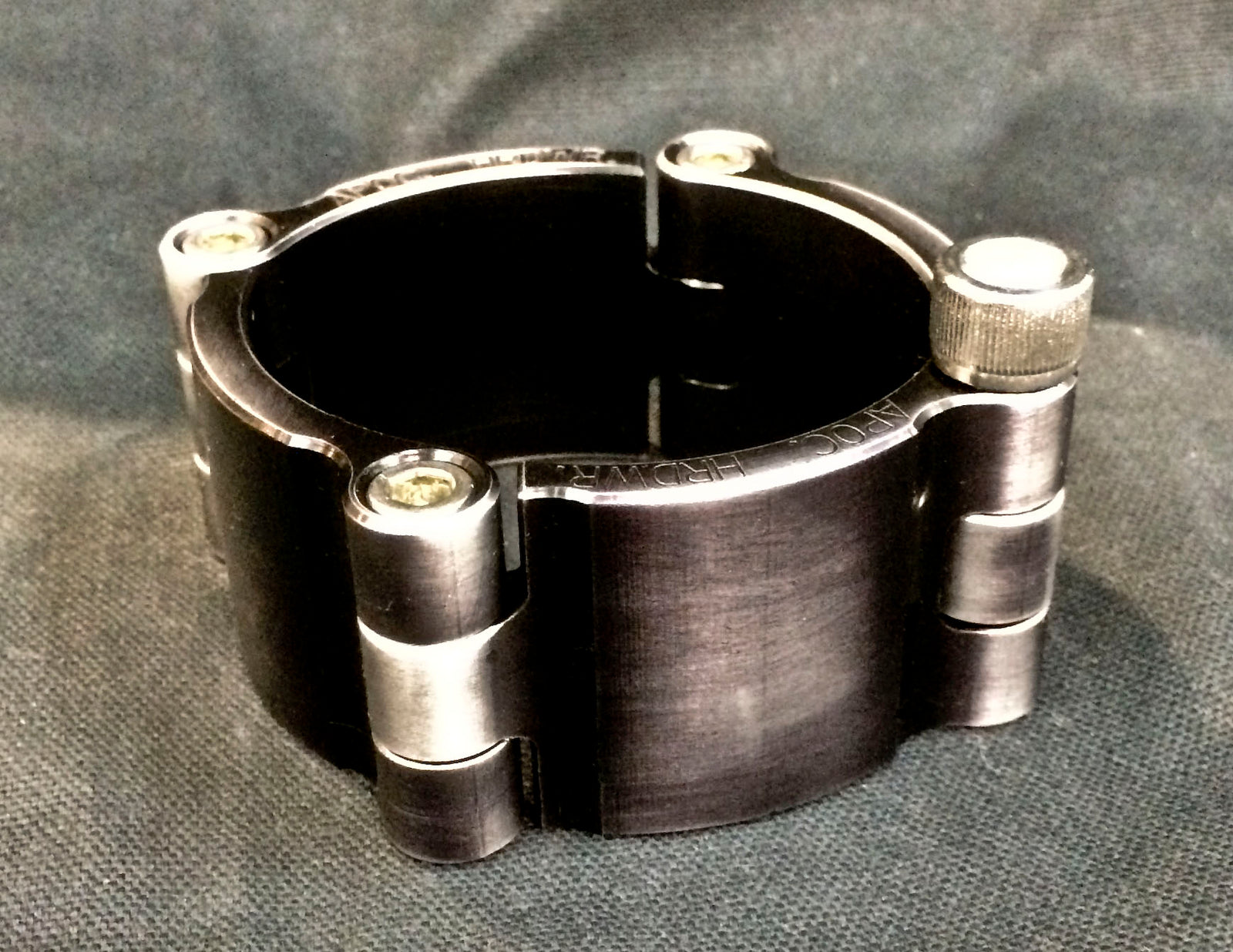 Machined Aluminum Cuff - Antiqued