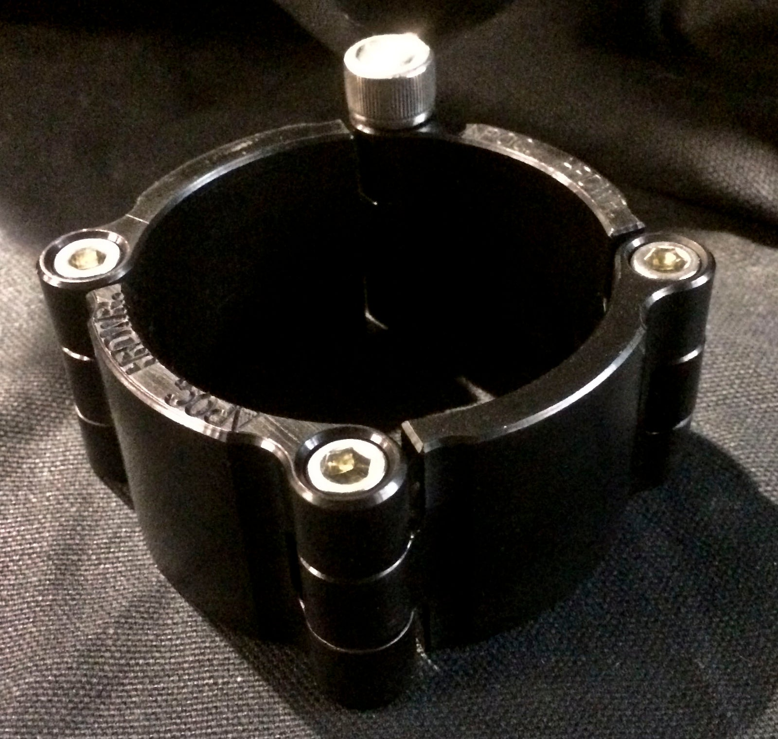 Machined Aluminum Cuff - Black Anodized