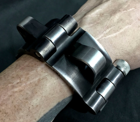 Machined Aluminum Shackle Cuff - Black Anodized
