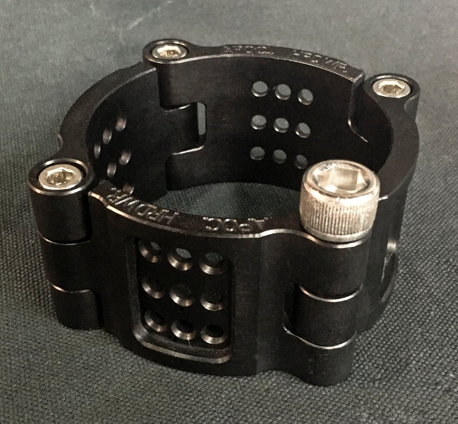Machined Aluminum Vent Cuff - Black Anodized