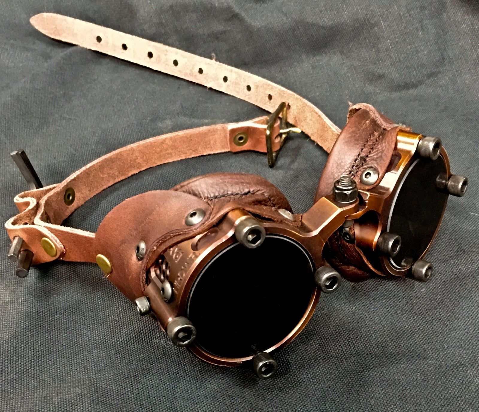 Machined  Goggles  - Antique Bronze