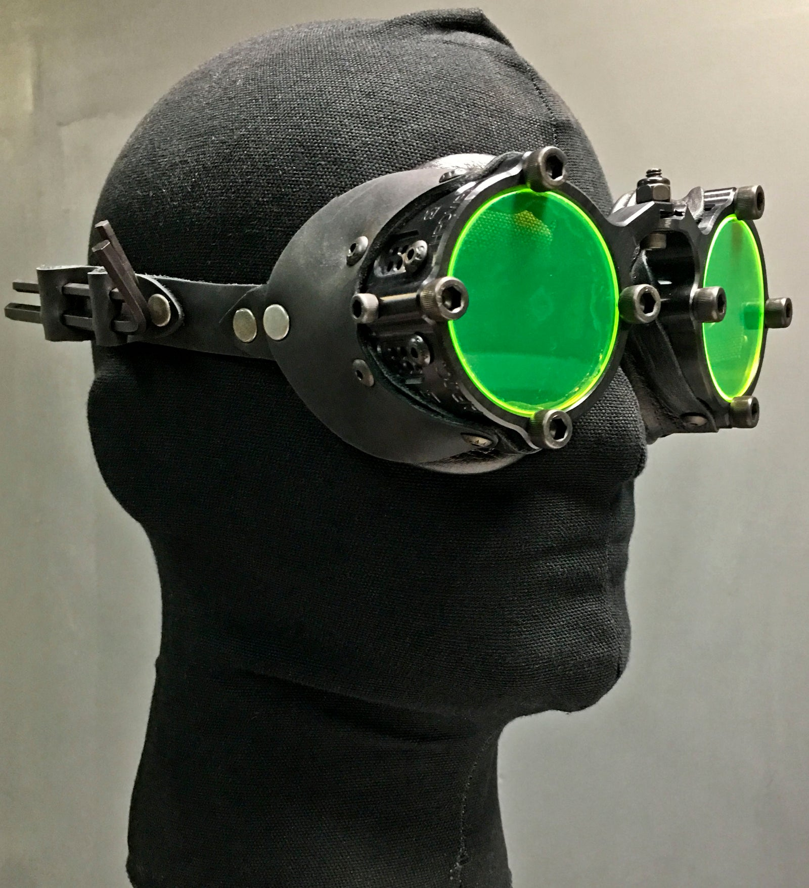 Machined  Goggles  - Neon Black
