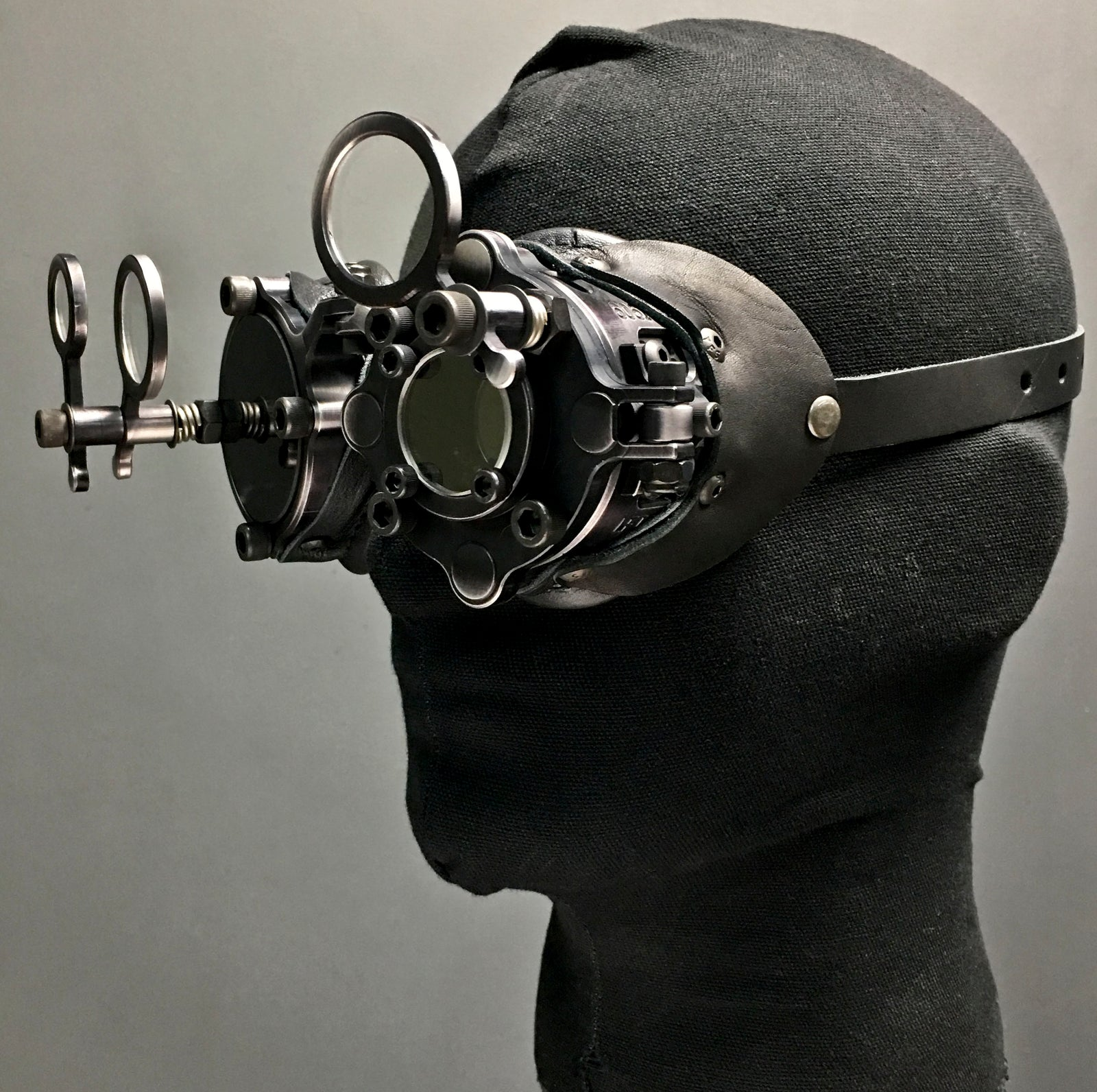 Machined Inspector Goggles  - Antiqued Black