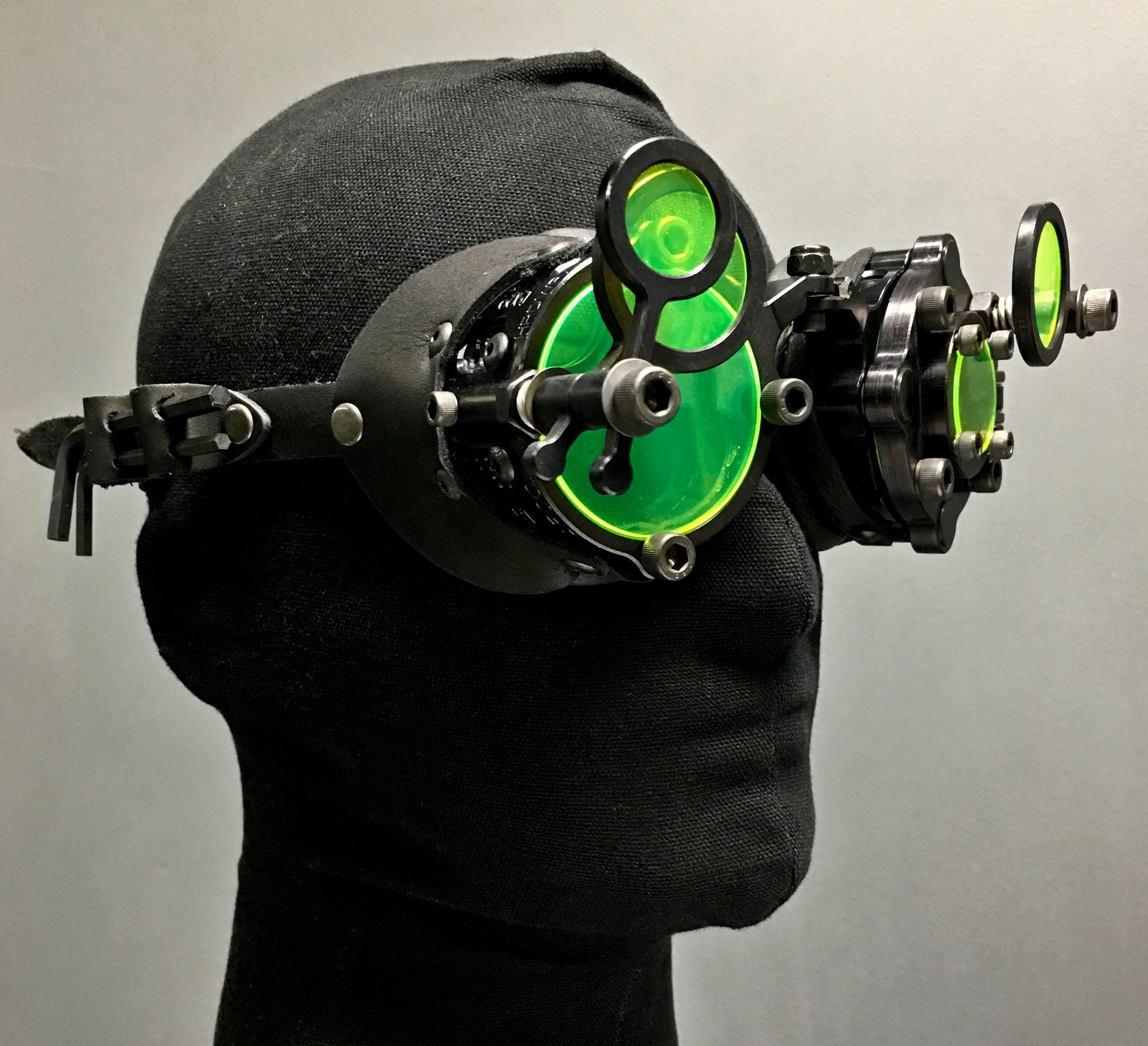 Machined Inspector Goggles  - Neon Black