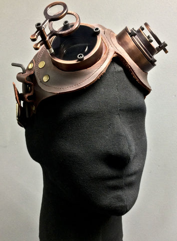Machined Flip Cover Goggles  - War -Bronze