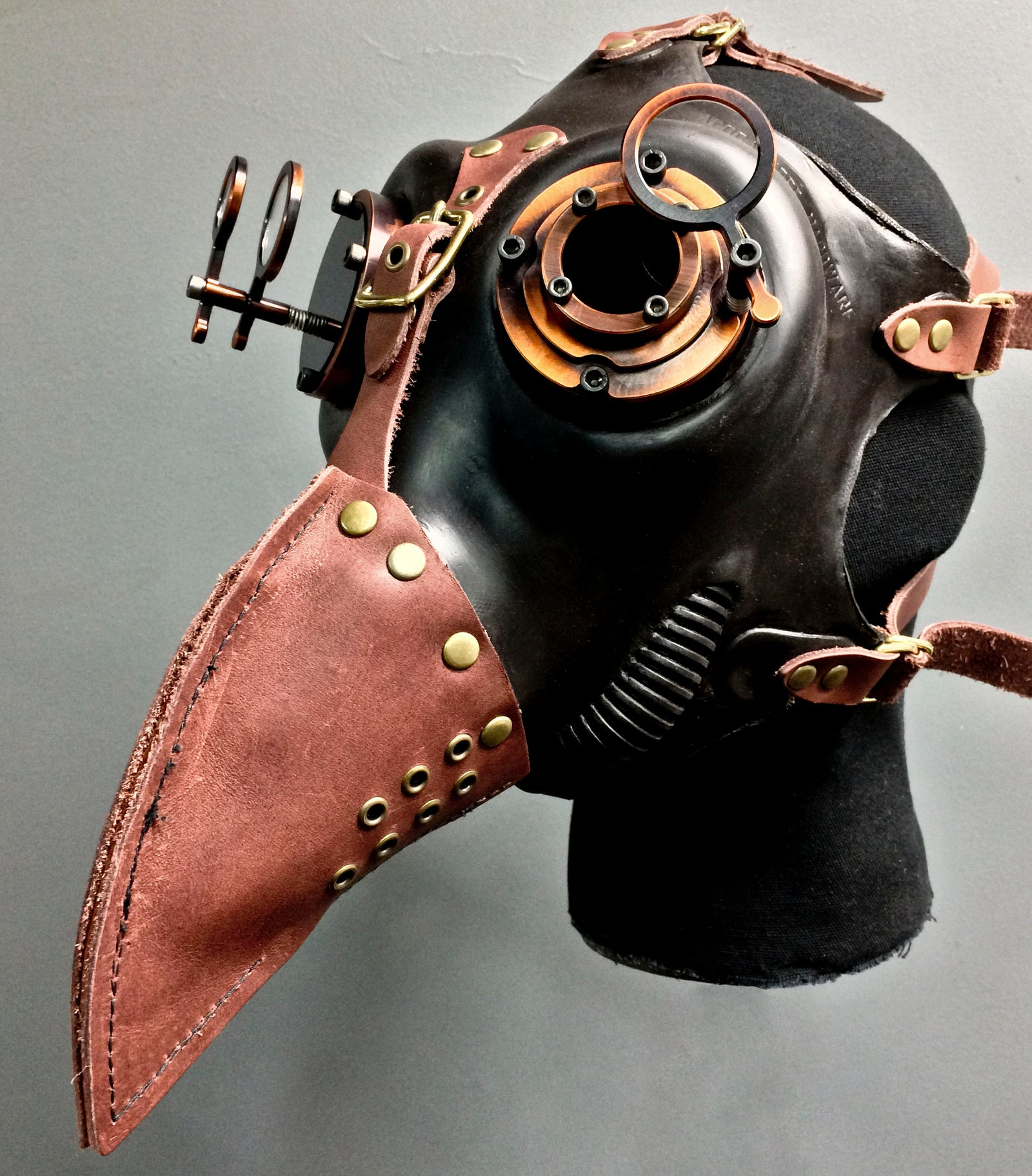 Gas Mask - Plague - Antiqued Bronze - MS053BZ