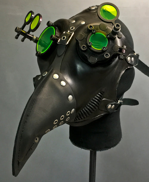 Gas Mask - Plague - Neon Black