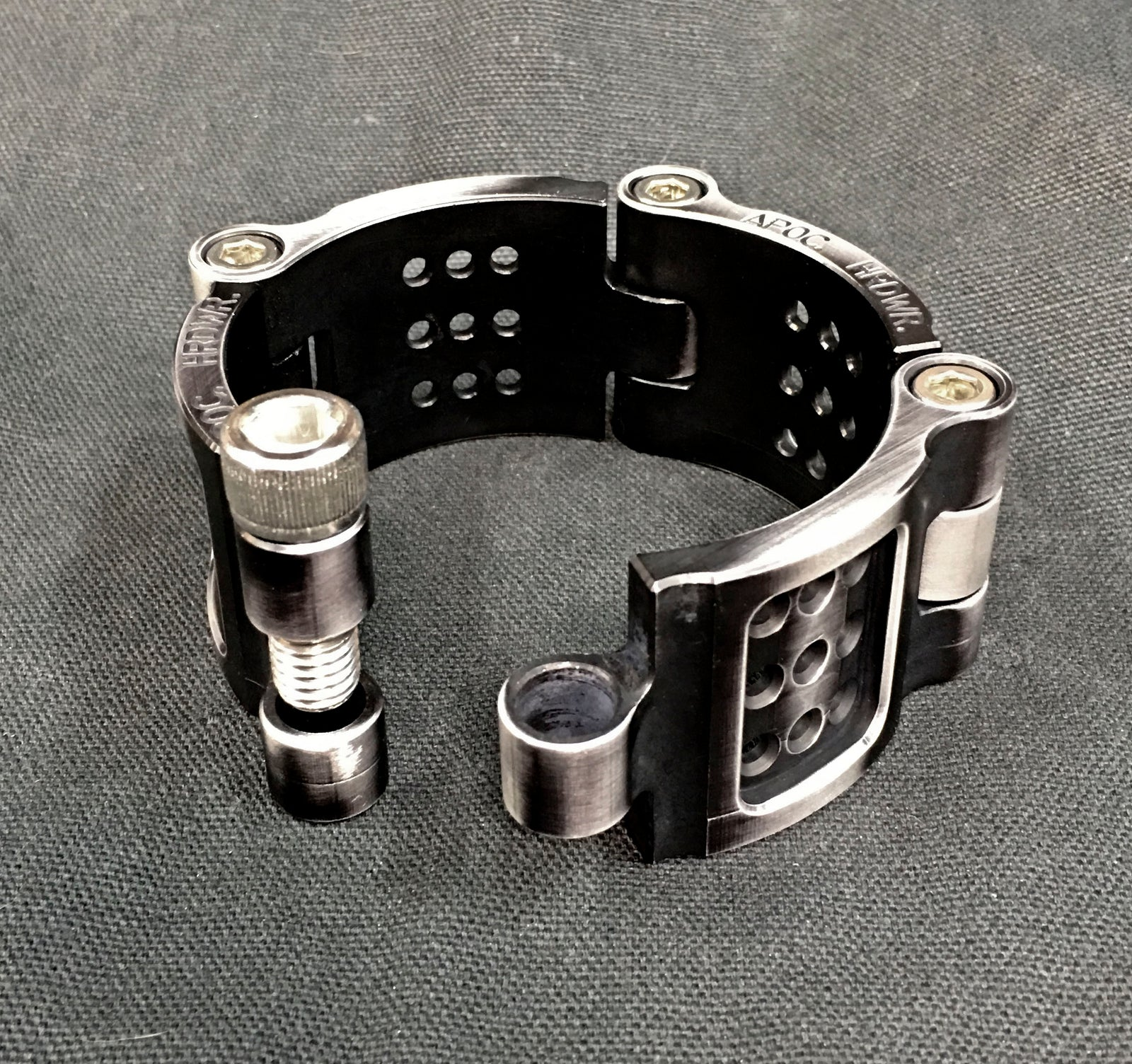 Machined Aluminum Vent Cuff - Antique Black