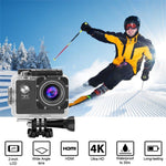 4K Digital Water Proof Sports Body Helmet Camera Screen Mount And Clip