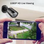 1080p Home Security Camera Complete Security System 4 Cameras Wired System