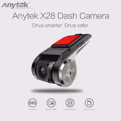 Mini Car DVR Camera Full HD 1080P Digital Video Recorder G-sensor Dash Cam