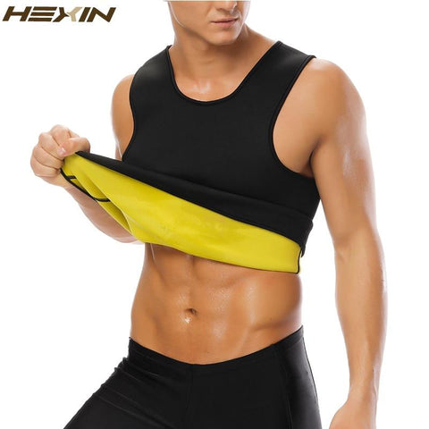 Neoprene Men's Body Shaper Vest Thermo Slimming Suana Weight Loss Shirt