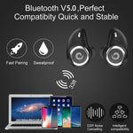 Bluetooth Earphone Wireless Earbuds V5.0  Microphone Hands Free Music & Phone Kit