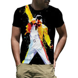 Men's Freddie Mercury Queen Band T-Shirt Rock Star