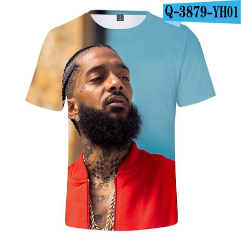 New Nipsey Hussle 3D Mens T Shirts - 10 Brand New Designs