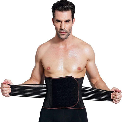 Men's Waist Body Shaper Fat Burning Belly Girdle Slimming Trainer Belt