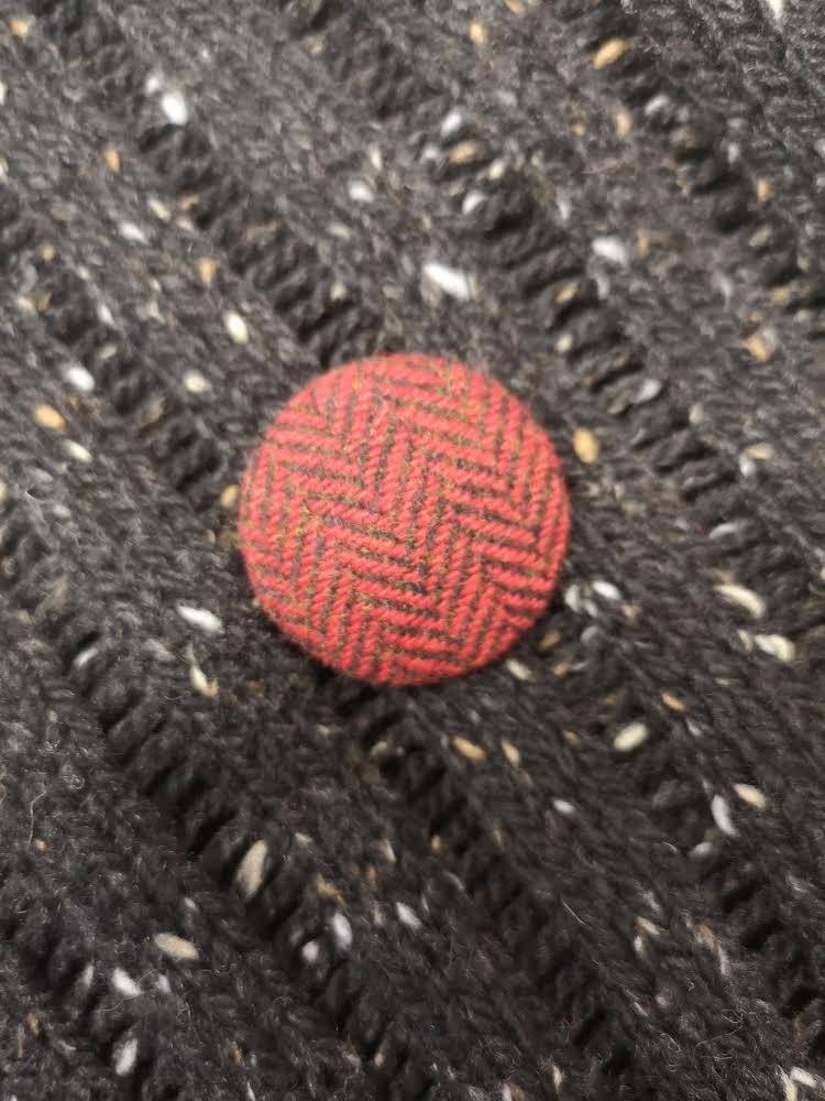 Donegal Tweed Button Set of Five