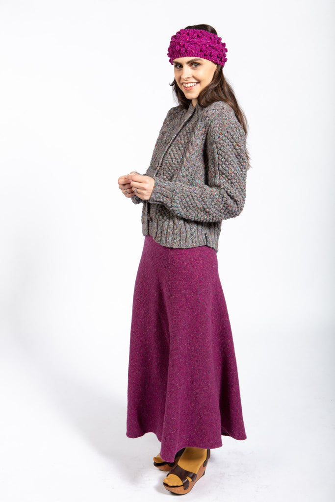 Knit Skirt in Merino with no Seams