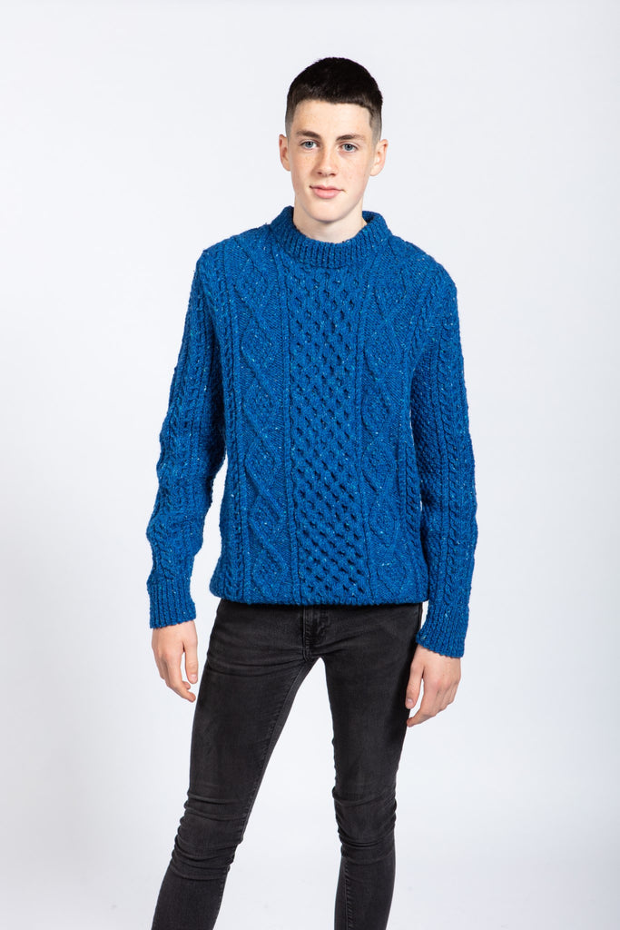 Aran Success Pure Wool Mens Handknit