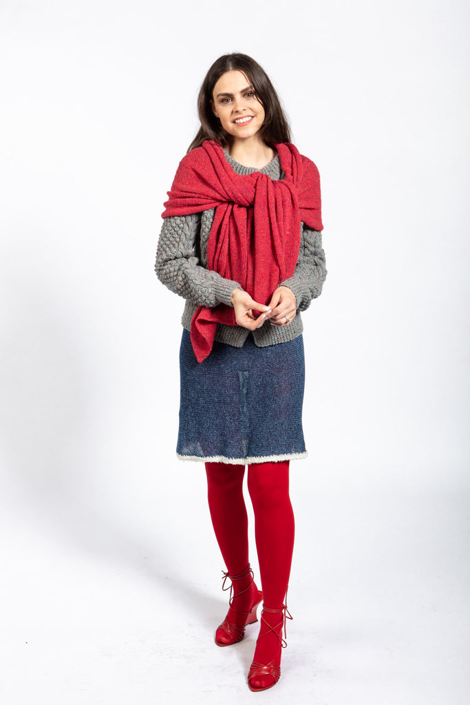 Aimsir Wrap Knit in Light Merino with Mohair