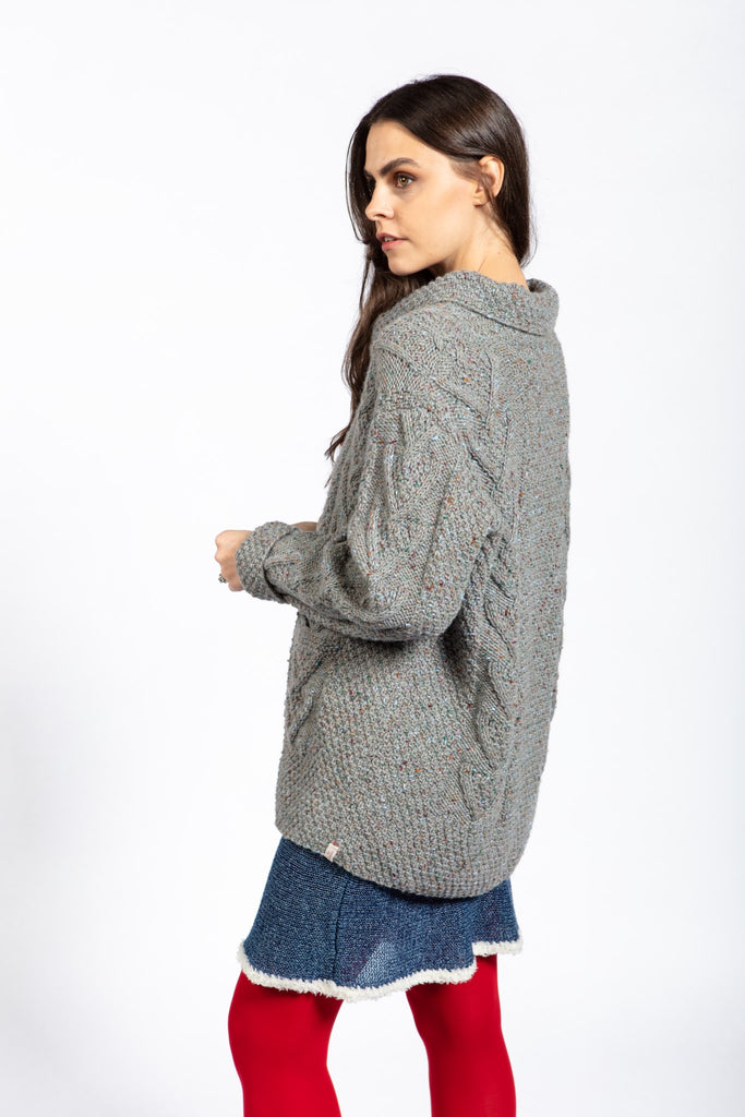 Rita Cardigan With Pockets in Tweed