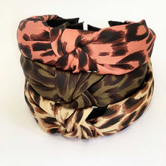leopard print hairbands headbands