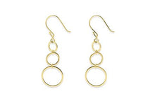 Load image into Gallery viewer, 3 gold circle earrings